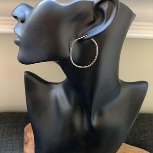 Banana Republic Sterling Silver Loop Earrings